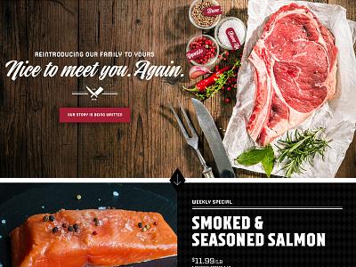 Local Butcher, website grid retail food ui ux
