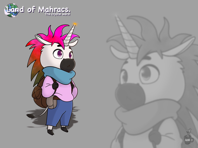 Uni cute unicorn character cartoon coffeescartoon