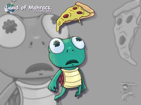 Pepperoni mycharacter cute turtle pepperoni cartoon coffeescartoon
