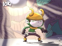 Little Loki loki illustration fanart cartoon coffeescartoon