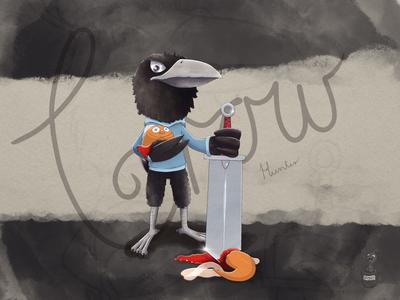 Hunting Crow