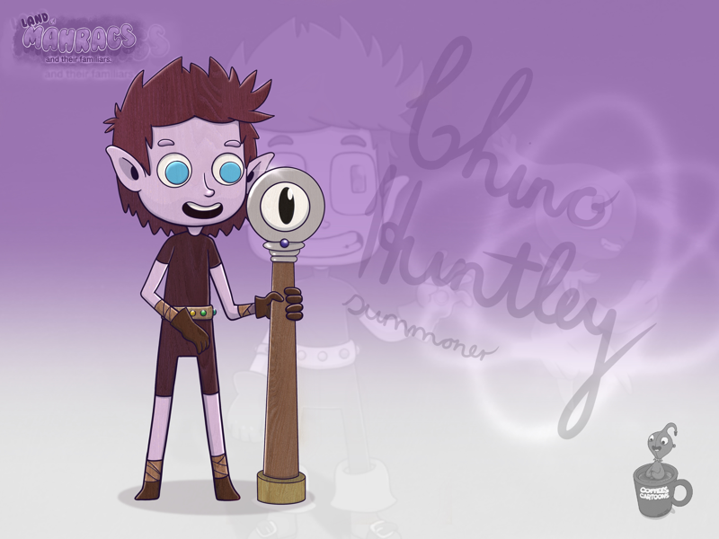 Chino Huntley hero wood staff cartoon summoner coffeescartoon