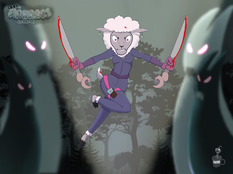 Sheep ,Vampire hunter characters hunter vampire sheep cartoon coffeescartoon