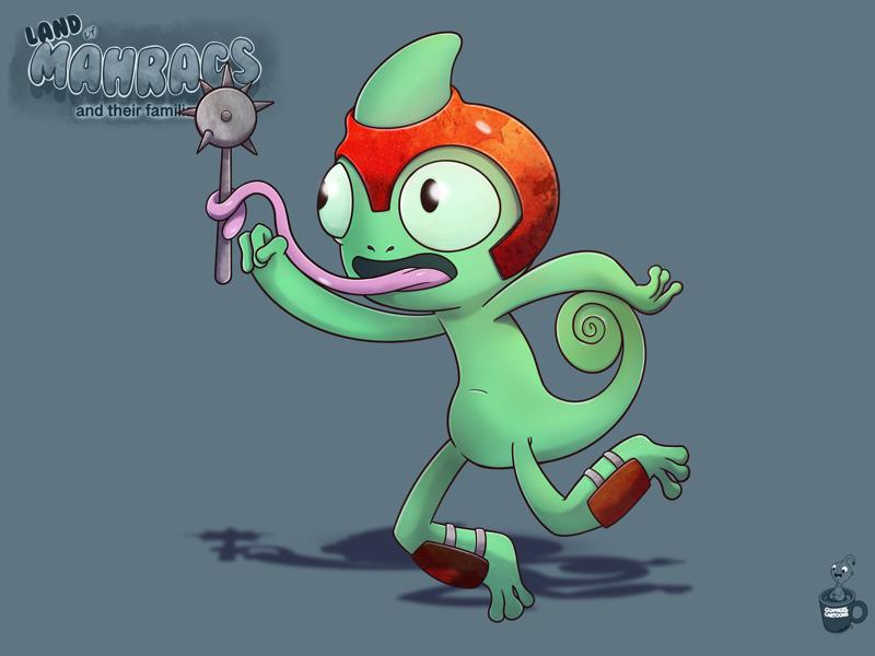 Bow the morningstar chameleon tongues morningstar chameleon characters cartoon coffeescartoon
