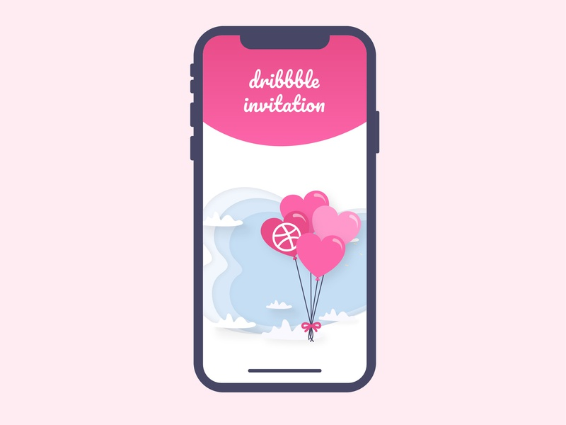 1 Dribbble invite dribbble invitation dribbble invite app invitation invitation design invite invite design mobile pink dribbble best shot dribbble ball dribbble app dribbbble icon ui typography vector illustration design dribbble