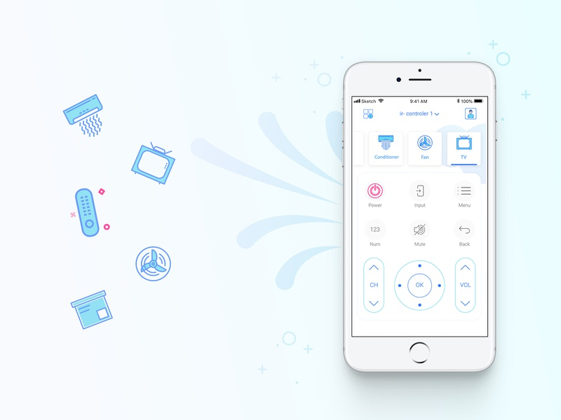 Smart Home application smart home app simple branding application remote control controller smart app smart house home control app ui design daily ui minimal sketch automotion smarthome smart home