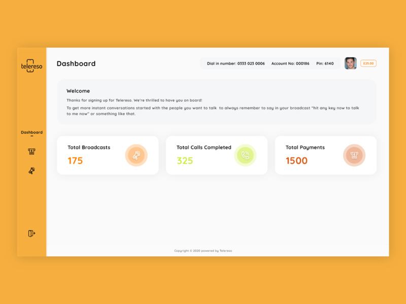 Telereso Dashboard Design