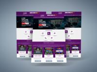 Online Games Web UI UX Design