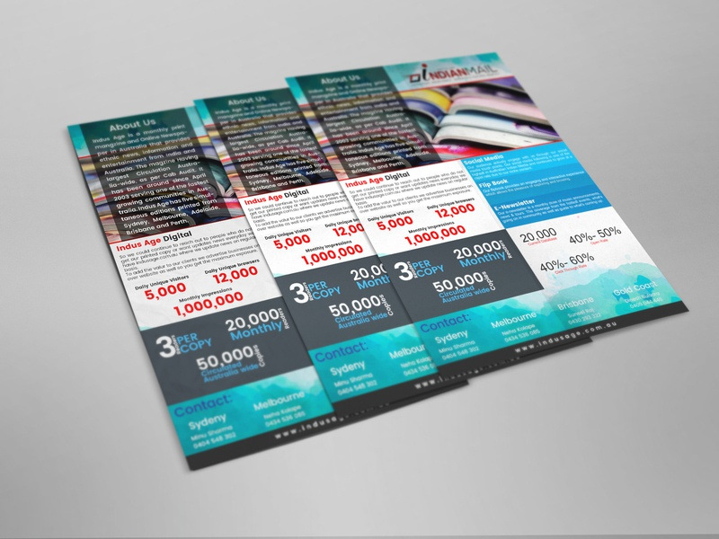 Indian Mail Flyer Design design typography flyer mockup flyer design flyer artwork flyer