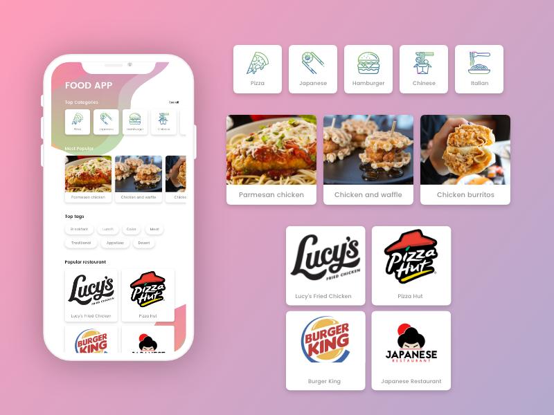 Food App Design foodies food app app mobile app design mobile app ui ux ui ux design design