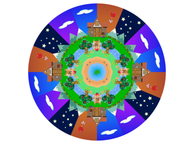Animal Crossing Mandala