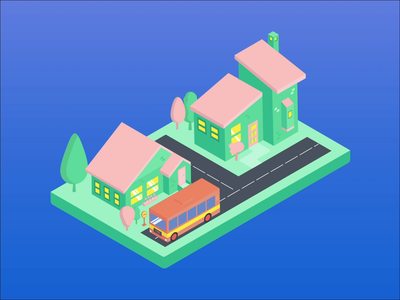 Isometric City Animation