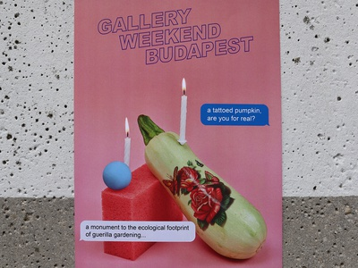 Gallery Weekend Budapest identity
