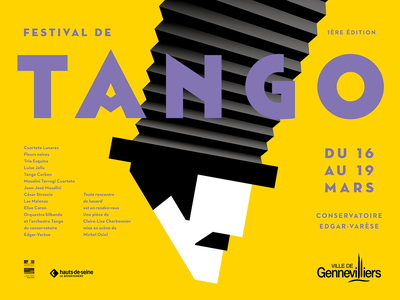Tango tango keyart music artwork festival poster festival vector typography poster art poster illustration design