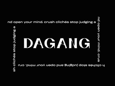 DAGANG Typography typography design blackandwhite graphic design typography art font design font motion design dagang typogaphy