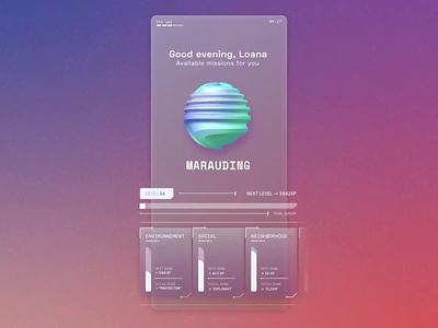 Purepose Futuristic UI Concept futuristic ui gradient motion app futuristic c4d graphic design ui design
