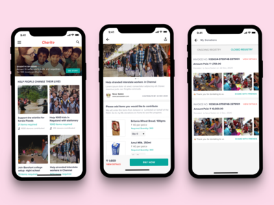 Fund Raiser App Concept ui ux mobile app design concept