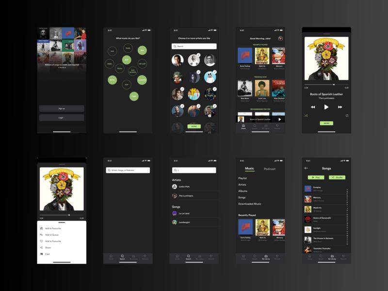 Music App Concept design ux concept mobile app design ui