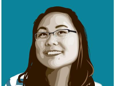 Vector Portrait vector portrait illustrator youth woman student