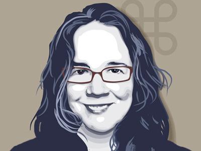 Self Portrait vector portrait illustrator face woman