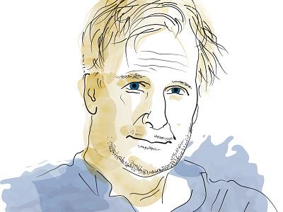 Jeff Daniels Portrait illustrator author portrait vector