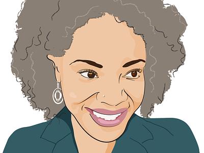 Deborah Whaley illustrator author portrait vector