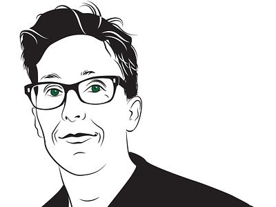 Alison Bechdel illustrator author portrait vector