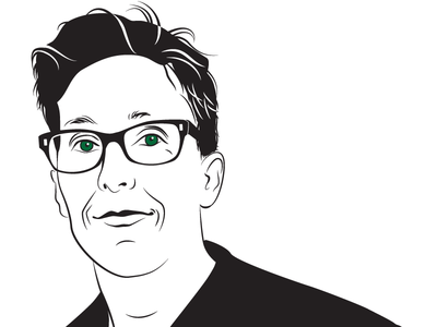 Alison Bechdel illustrator author portrait vector