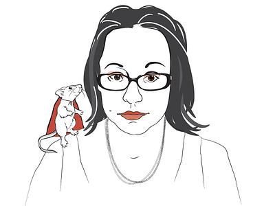Jenny Lawson aka The Blogess illustrator author portrait vector