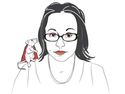 Jenny Lawson aka The Blogess illustrator author portrait vector