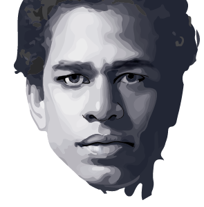 Portrait in progress vector portrait monochromatic