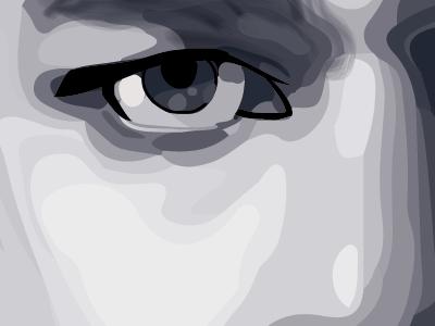 Portrait Detail vector portrait monochromatic detail