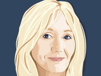 JK Rowling Vector Portrait