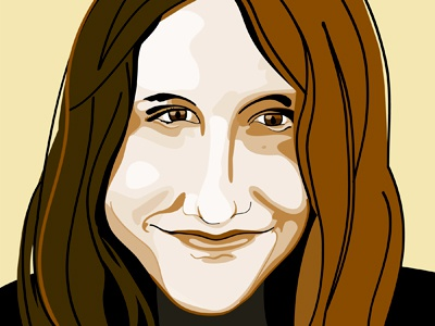 Karen Russell portrait vector illustrator author