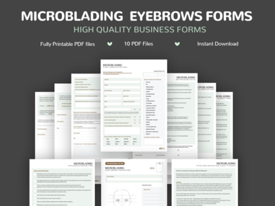 MicroBlading Eyebrows Forms