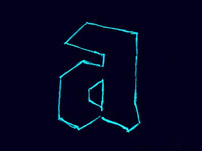 Neon Blackletter sketch blackletter typography type lettering letter handlettering