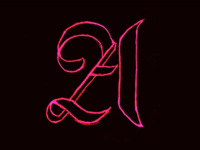 Neon Textura textura type blackletter typography sketch lettering letter handlettering