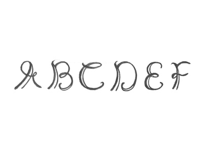 Gnarly Curvy pencil typography type sketch lettering letter handlettering