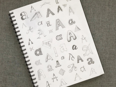 50 types of A pencil handlettering typography lettering sketch type letter