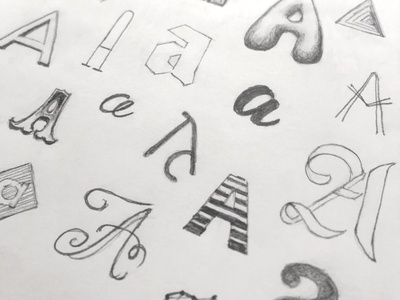 Aa lettering letter typography type sketch pencil handlettering