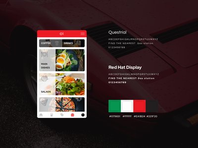 Gas Station Mobile App Food Page gas station gasoline mobile mobile design mobile ui mobile app design mobile app