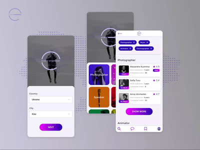 Event Mobile App Motion event app mobile ui mobile app design mobile app mobile design