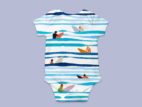 Surfs Up - Baby Grow 02