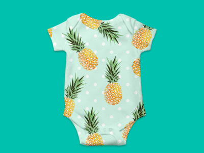 Pineapples - Baby Grow 03