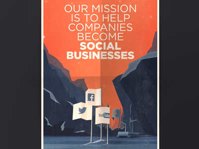 Brand new poster for our office poster print illustration marketing social media social business landscape