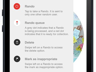 Rando info information icons