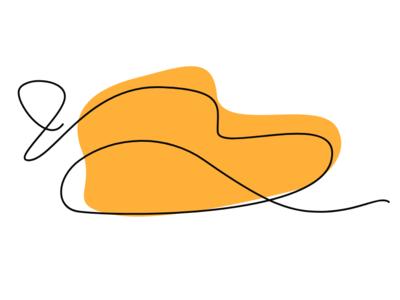 Single line lips series - Orange