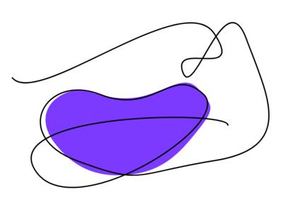 Single line lips series - Purple
