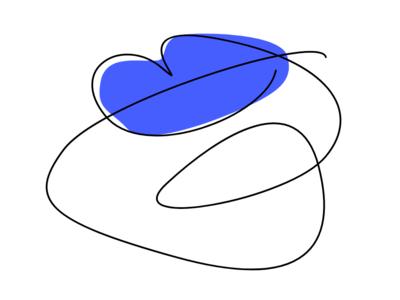 Single line lips series - Dark Blue