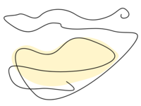 Single line lips series - Cream